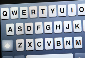 foto of qwerty  - Qwerty keyboard on tablet - JPG