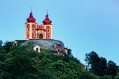 image of calvary  - Calvary in Banska Stiavnica at night Slovakia - JPG
