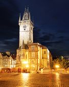 Old Town City Hall In Prague, View From Old Town Square, Czech Republic