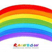 Rainbow Watercolor Brush Smears,
