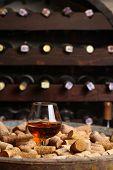 Brandy In A Wine Cellar