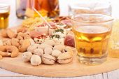 finger food and alcohol