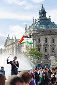 Palestinian Demonstration In The Center Of The European Union