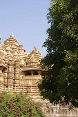 image of kandariya mahadeva temple  - Exterior decorations of the Kandariya Mahadeva Temple at Khajuraho in India Asia - JPG