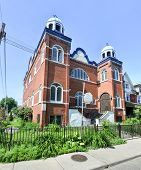 stock photo of synagogue  - The Kiever Synagogue a Modern Orthodox Jewish synagogue in Toronto Canada. It was founded by Jewish immigrants from the Ukraine in 1912 and formally incorporated in 1914.