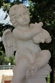 VEPRIC, CROATIA - JUNE 07: Angel musician, Shrine of Our Lady of Lourdes in Vepric, Croatia, on June