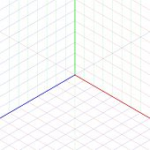Isometric projection background. Vector.