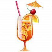 Cocktail Bahama Mama With Ice And Garnish