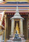 Statue Of A Seated Hermit At Wat Phra Kaew In Bangkok