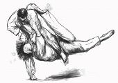 pic of judo  - An hand drawn illustration  - JPG