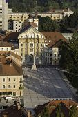 picture of trinity  - Holy trinity church and Congress square in Ljubljana