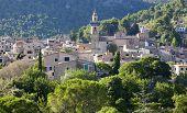 Ancient mountain village in Valldemosa, Mallorca island, Spain