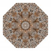 Octagonal Brown Ornament