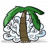 cartoon palm tree symbol