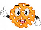 Mascot Illustration Featuring a Criss Cross Cut Fry Giving a Thumbs Up