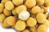 Fresh longan the sweet fruit in side view