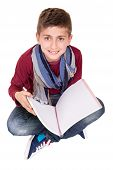 Boy Holding A Sketchbook