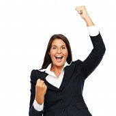 pic of adversity humor  - Business woman celebrating winning success - JPG