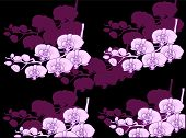 illustration with lilac orchids background