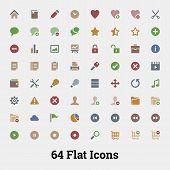 64 Glyph Vector Icons.