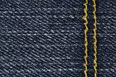 Blue Jean Texture With Stitches
