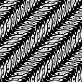 Design Seamless Monochrome Diagonal Decorative Pattern