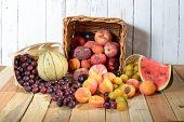 Basket Of Seasonal Fruits