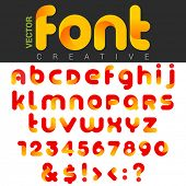 Font design vector rounded funny cartoon. Can be used as Logos. Letters and Numbers and other Charac