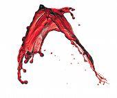 Splashes Of Red Transparent Liquid