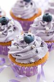 Blueberry And Lavender Cupcakes