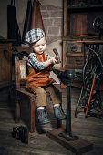 Little Boy Hammering