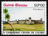Postage Stamp Guinea-bissau 1989 Town Of Cacheu