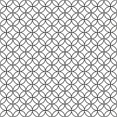 Wired Fence. Black Ring Cage on White Background. Vector