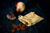 Magical Runes Amethyst And Crystal Ball