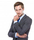 Handsome European businessman