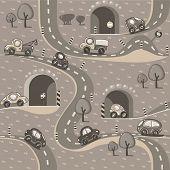 Cars. Seamless pattern.