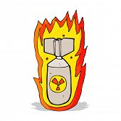 cartoon flaming bomb