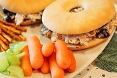Bagel with chicken salad