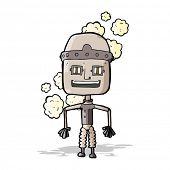 funny cartoon old robot