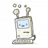 cartoon old computer