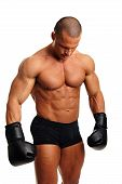 Man with boxer gloves