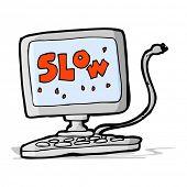 cartoon slow computer