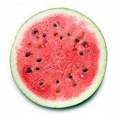 sliced watermelon on white background