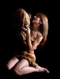 stock photo of cave-dweller  - Female cave - JPG