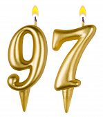 pic of number 7  - Birthday candles number ninety seven isolated on white background - JPG