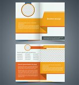 Yellow Bifold Brochure Template Design, Business Leaflet, Booklet.