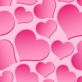 Pink Valentine Hearths From Paper Seamless Pattern Eps10