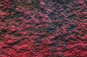 Plaster Or Cement Texture Red And Black Color