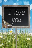 Chalkboard With Text I Love You