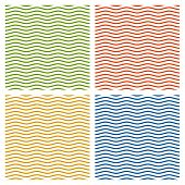 Collection Of Multicolored Waves Background - Endless